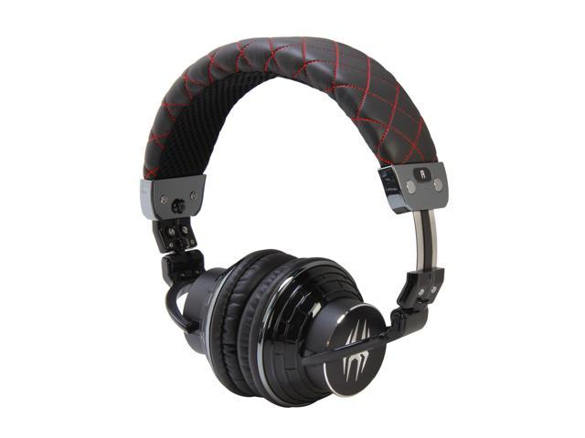 Spider Black E-HEPH-BK01 Circumaural PowerForce Full Circumaural Headphones - Black