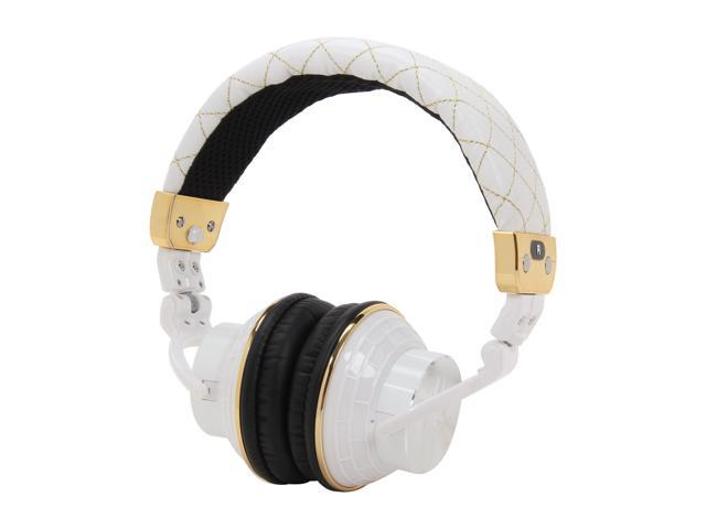 Spider White E-HEPH-WH01 Circumaural PowerForce Full Circumaural Headphones - White