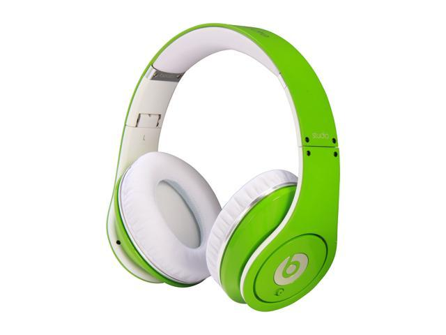 Beats by Dr. Dre Green Studio 3.5mm Connector On Ear Powered Isolation Headphone (Green)