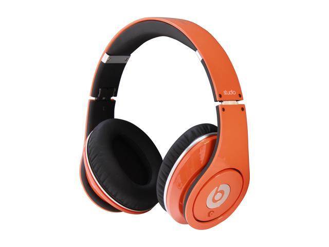 Beats by Dr. Dre Orange Studio 3.5mm Connector On Ear Powered Isolation Headphone (Orange)