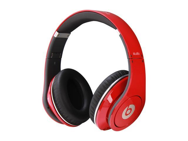Beats by Dr. Dre Red Studio 3.5mm Connector On Ear Powered Isolation Headphone (Red)