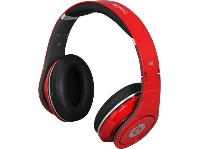 Beats by Dr. Dre Red Studio Red On Ear Powered Isolation Headphone