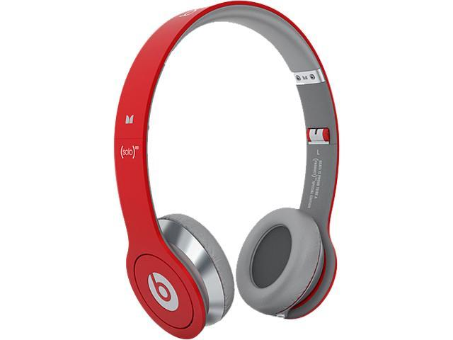 Beats Red SOLOWIREDRED Solo Wired On-Ear Headphones