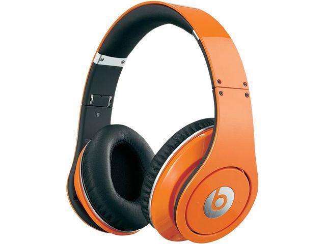 Beats Orange STUDIOWIREDO-RB 3.5mm Connector Studio Wired OverEar Headphone