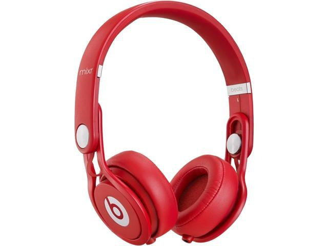 Beats by Dr. Dre Red MIXRR WIRED ON EAR HEADPHONES