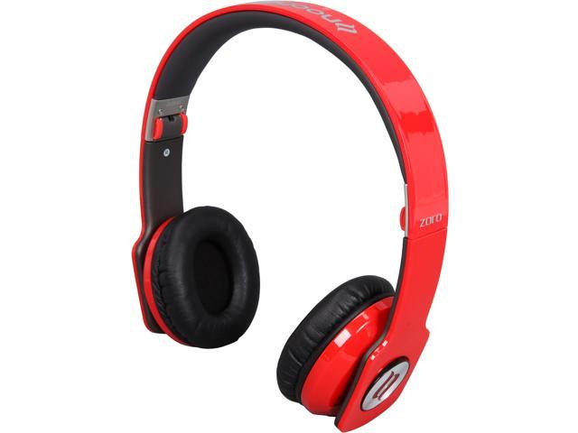 noontec Red 3.5mm ZORO High Fashion Steel Reinforced SCCB Sound Technology Headphones ZORO-RED