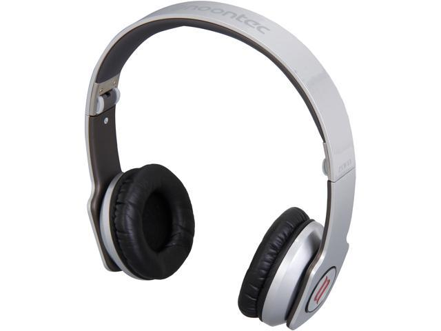 noontec Silver 3.5mm ZORO High Fashion Steel Reinforced SCCB Sound Technology Headphones ZORO-SLV