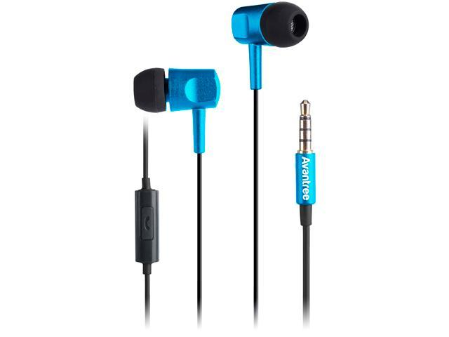 Avantree Blue ADHF-009-BLU 3.5mm Connector Wire Headphone Gladiator Blue and Black