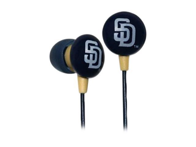IHIP Blue/Gold MLF10169SD Earbud MLB San Diego Padres Printed Ear Buds, Blue/Gold