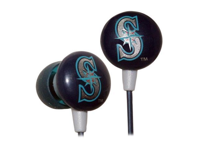 IHIP Blue/Green MLF10169SEA Earbud MLB Seattle Mariners Printed Ear Buds, Blue/Green