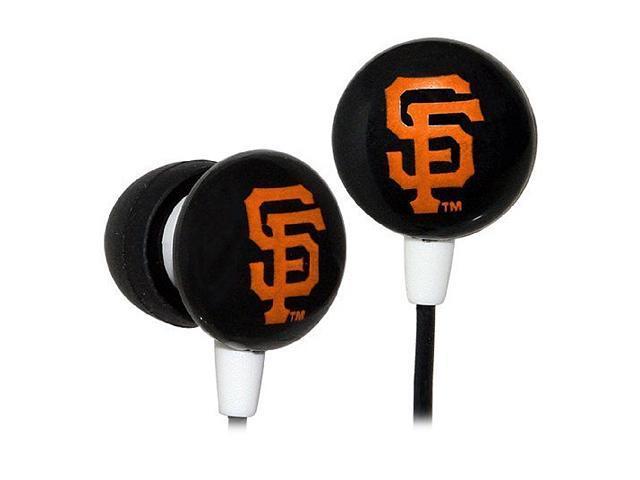 IHIP Orange/Black MLF10169SF 3.5mm Connector Earbud MLB San Francisco Giants Printed Ear Buds, Orange/Black