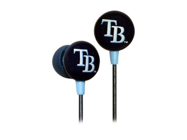 IHIP Blue/Black MLF10169TB MLB Tampa Bay Devil Rays Logo Earbuds