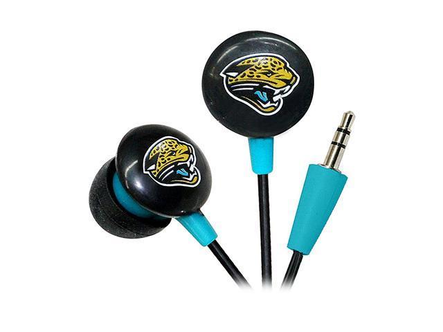 IHIP Gold/Turquoise NFF10200JAJ Jacksonville Jaguars Mini Ear Buds, Gold/Turquoise