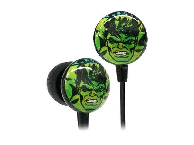 IHIP Green MVF1030HU Marvel Retro Earphones - Hulk Green
