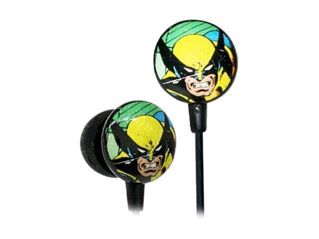 iHome Yellow/Blue MVF1030WO Marvel Retro Earphones, Wolverine Yellow/Blue