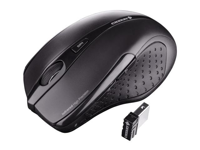 Cherry JW-T0100 Black 5 Buttons 1 x Wheel USB RF Wireless 1750 dpi Ergonomic Mouse