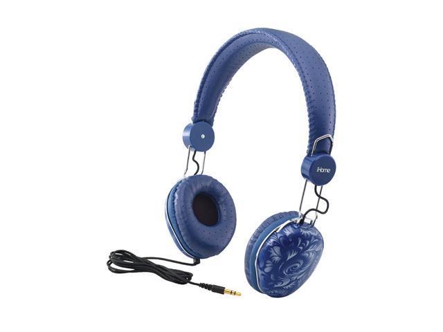 iHome Blue IB43LD Circumaural Fashion Headphones-Blue Design