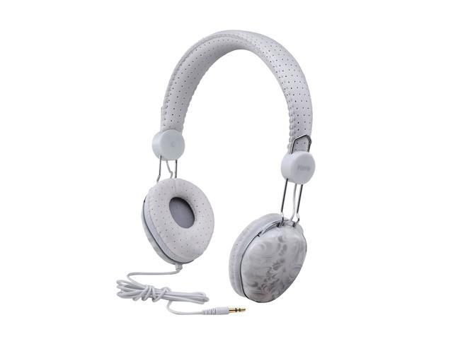 iHome White IB43WD Circumaural Fashion Headphones-White Design