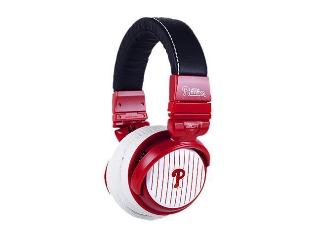 BiGR Audio XLMLBPP1 Over-Ear Philadelphia Phillies Headphones with In-Line Mic