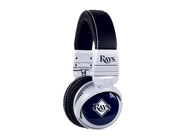 BiGR Audio XLMLBTBR1 3.5mm Connector Over-Ear Tampa Bay Rays Headphones with In-Line Mic