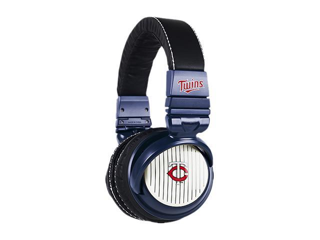 BiGR Audio XLMLBMT1 3.5mm Connector Over-Ear Minnesota Twins Headphones with In-Line Mic