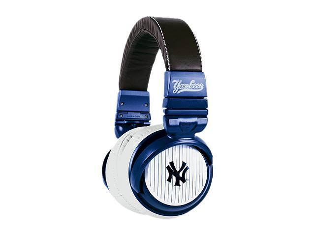 BiGR Audio XLMLBNYY2 Over-Ear New York Yankees Headphones with In-Line Mic