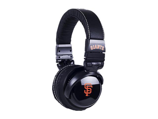 BiGR Audio XLMLBSFG2 3.5mm Connector Over-Ear San Francisco Giants Headphones with In-Line Mic