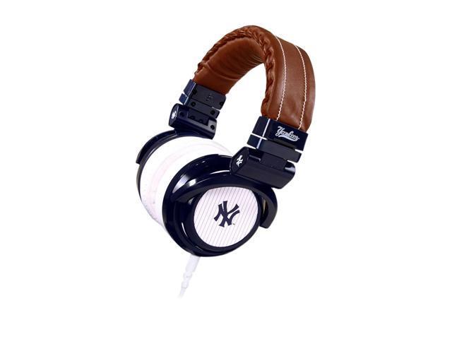 BiGR Audio Brown/Blue XLNYY1 3.5mm Connector Circumaural Yankees Headphone