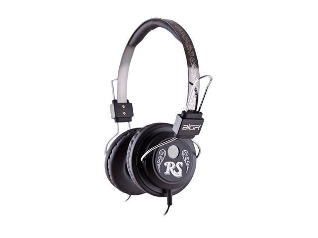 BiGR Audio Black XLRSM1 Circumaural Rolling Stone Headphone