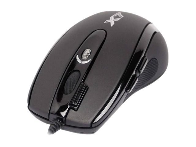 Ergoguys XL-750F Black 7 Buttons USB Wired Laser A4 Tech 3xfire Oscar Gaming Mouse