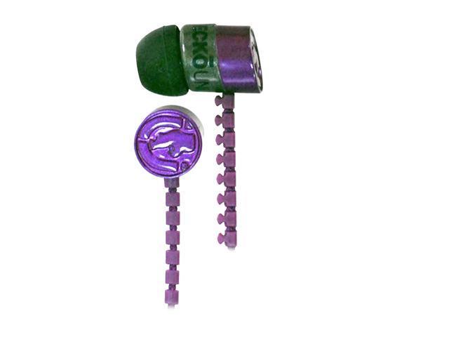 Ecko EKU-ZIP-PRP 3.5mm Connector Canal Zip Ear Buds - Purple