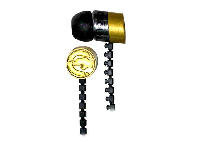 Ecko EKU-ZIP-GLD 3.5mm Connector Canal Zip Ear Buds - Gold