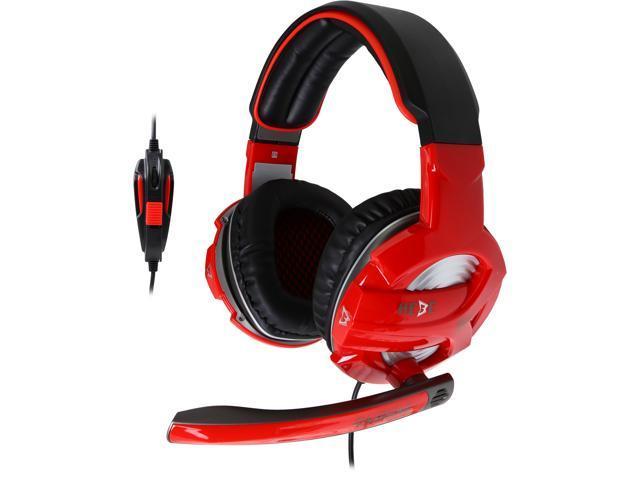 GAMDIAS Hebe V1 3.5mm x 2 Connector Circumaural Stereo Gaming Headset with Black Headband
