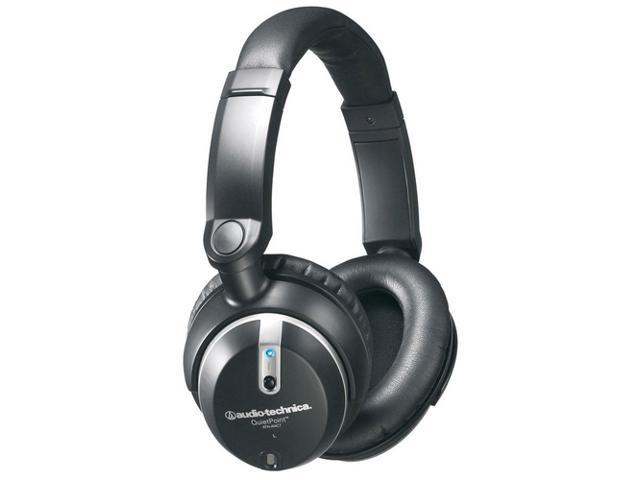 Audio-Technica QuietPoint ATH-ANC7b 3.5mm/ 6.3mm Connector Circumaural Active Noise-cancelling Headphone