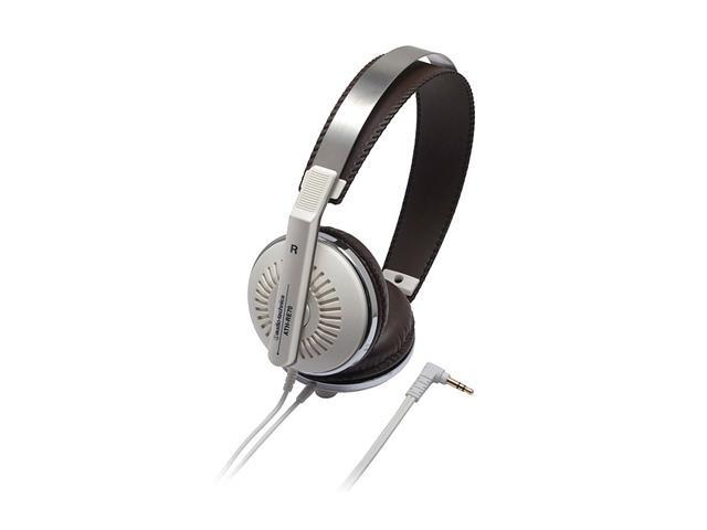 Audio-Technica White ATH-RE70WH 3.5mm Connector On-Ear Headphone - White