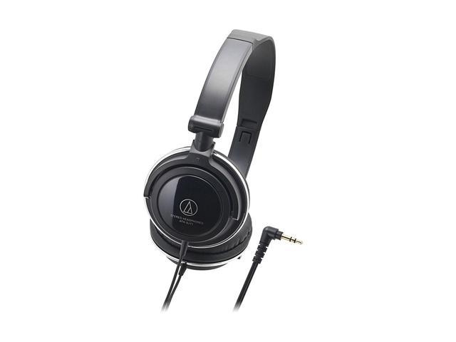Audio-Technica ATH-SJ11BK 3.5mm Connector On-Ear Headphone - Black