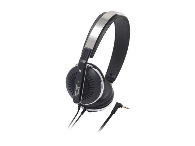 Audio-Technica Black ATH-RE70BK 3.5mm Connector On-ear Headphone
