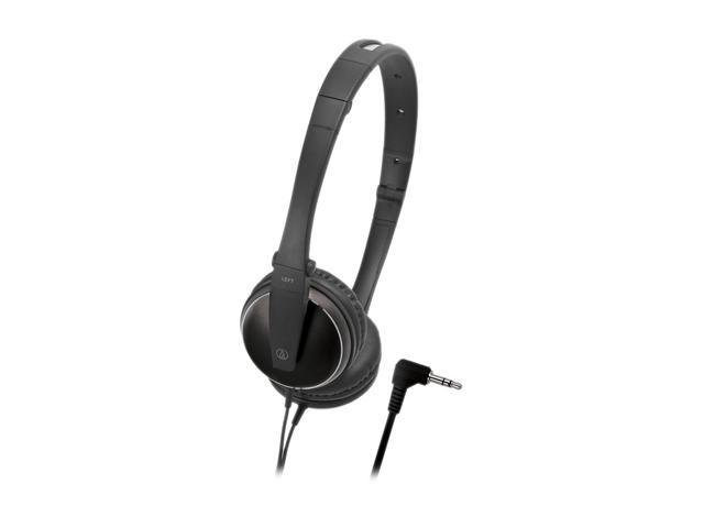 Audio-Technica ATH-ES33BK 3.5mm Connector On-Ear Headphone - Black