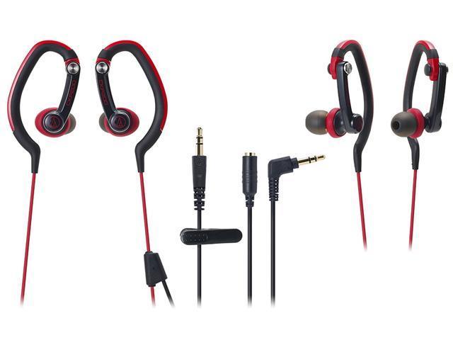 Audio-Technica ATH-CKP200 SonicSport In-ear Headphones - Red