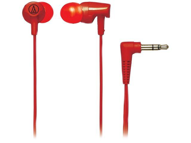 Audio-Technica ATH-CLR100 Clear In-Ear Headphones - Red