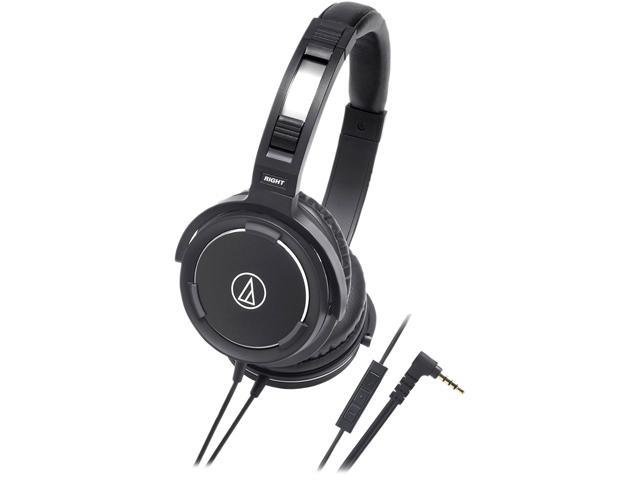 Audio-Technica ATH-WS55iBK Solid Bass Over-Ear Headphones for iPod/iPhone/iPad