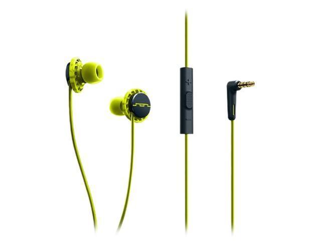 Sol Republic Lemon Lime 1131-40 Relays 3-Button In-Ear Headphones