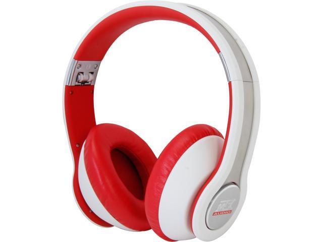 MTX StreetAudio White iX1 - White On Ear Acoustic Monitor Headphones