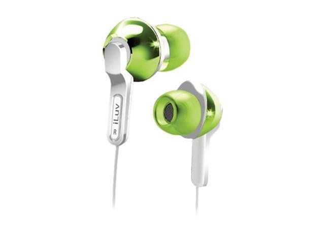 iLuv iEP322GRN In-Ear Empire City Lights Earphone - Green