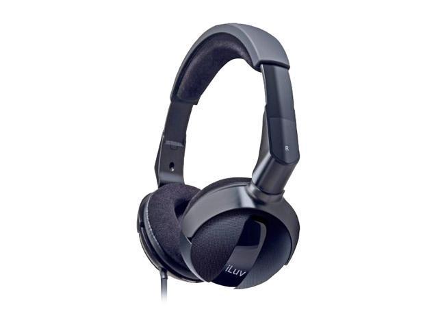 iLuv iHP605BLK 3.5mm Connector Supra-aural Megas Bass Pro Headphone