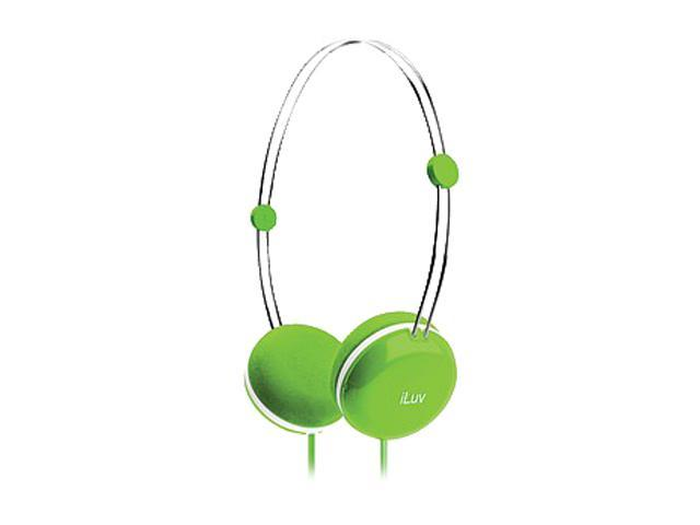 iLuv Sweet Cotton Green 3.5mm High-Fidelity Stereo Headset w/ SpeakEZ Remote for iPad / iPhone / iPod IHP613GRN