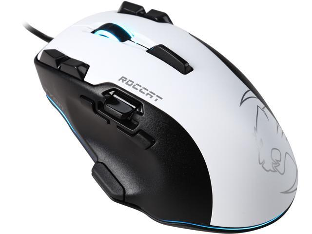 ROCCAT TYON ROC-11-851-AM White 16 Buttons 1 x Wheel USB Wired Laser All Action Multi-Button Gaming Mouse