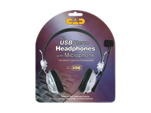CAD U2 USB Connector Circumaural Stereo Headset
