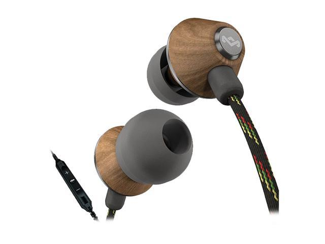 House of Marley People Get Ready EM-JE013-MI 3.5mm Connector In-Ear Headphones with Microphone & 3-Button Controller - Midnight
