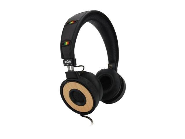 House of Marley EM-FH023-HA 3.5mm Connector On-Ear Headphone w/ Mic & 3-Button Controller